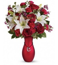 1 doz 6 pcs red rose