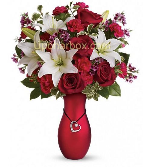 1 doz 6 pcs red rose