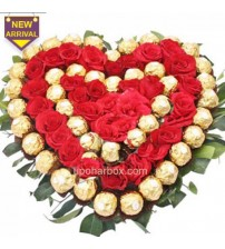 32stik-red-roses--40pcs-ferrero-rocher-nicely-decorated-bouquet