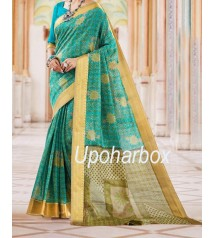 Indian Designer Kanjivaram Silk Katan Saree.