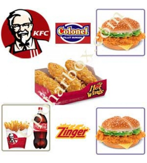 KFC burger and hot wings