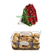 2 Doz Fresh Flower with Ferraro Rocher
