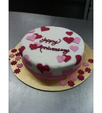 Heart Strip Cake