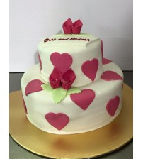 Vanilla cake with chocolate Heart