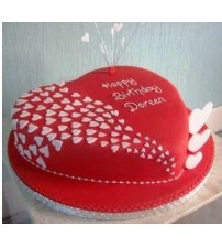01. Well food heart shaped cake